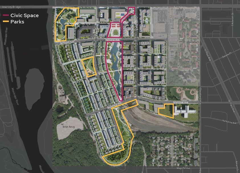 Saint Paul Parks Virtual Open House About Future Parks in Highland Bridge
